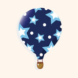 Style hot air ballon theme elements vector,eps. Vector illustration file Royalty Free Stock Image