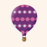 Style hot air ballon theme elements vector,eps. Vector illustration file Royalty Free Stock Photos