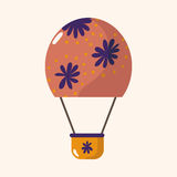 Style hot air ballon theme elements vector,eps. Vector illustration file Stock Photos