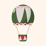 Style hot air ballon theme elements vector,eps Stock Image