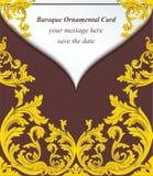Style impérial d'enveloppe de vintage de carte baroque d'invitation Fond de décor de vecteur Ornement classique sensible de luxe Photographie stock libre de droits