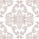 Style impérial de damassé de vintage d'acanthe florale baroque de modèle Fond de décor de vecteur Ornement classique de luxe roya Photo libre de droits