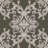 Style impérial de damassé de vintage d'acanthe florale baroque de modèle Fond de décor de vecteur Ornement classique de luxe roya Images libres de droits