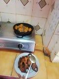 Style indien Salmon Fish Fry Home Made de nourriture délicieuse photo libre de droits