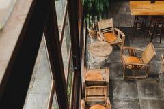 Style intérieur de vintage d'usine de café Vue supérieure images stock