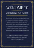 Style Invitation in Art Deco Royalty Free Stock Photo
