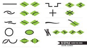 9Style Isometric droga Obraz Stock