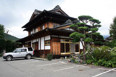 Style japonais de Chambre avec le stationnement Photos libres de droits