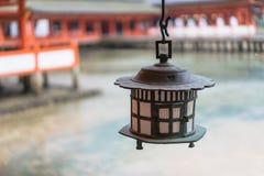 Style japonais de lampe de vintage Photos libres de droits