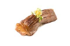 Style japonais de nourriture de sushi de boeuf de Wagyu Images stock