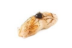 Style japonais de nourriture de sushi de hotate de coquillage Photographie stock libre de droits
