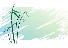 Style japonais en bambou sur le fond texturisé Photographie stock libre de droits