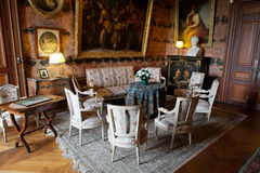 In style kept rooms in the castle Montresor Royalty Free Stock Photography