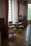 In style kept rooms in the castle Valencay. Loire Valley. France royalty free stock images