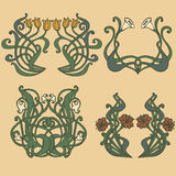 Style labels on different topics for decoration and design Royalty Free Stock Image