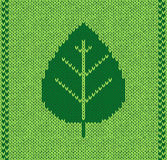 Style leaf seamless knitted pattern Royalty Free Stock Images