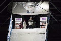 Style libre Ski Race pendant le grand air Milan Photos libres de droits