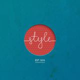Style lineart logo brand, clothing, fashion Royalty Free Stock Photo