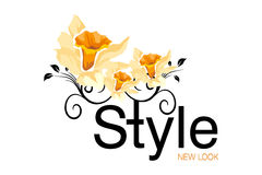 Style Logo. Logo Design for fashion or art agency Stock Photography