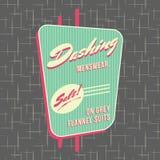 style Logo Design de devanture de magasin des années 1950 illustration de vecteur