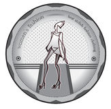 Style logo. Logo featuring fashion models on the catwalk royalty free illustration