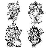 Style Lord Ganesha de tatouage illustration de vecteur