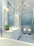 Style lumineux de classique de salle de bains Photographie stock libre de droits