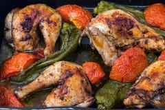 Style méditerranéen de poulet rôti photo libre de droits