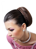 Style make-up and hairstyle Royalty Free Stock Photography