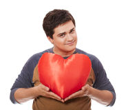 Style man with heart. Royalty Free Stock Images