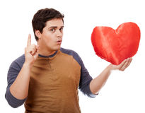 Style man with heart. Stock Photo