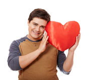 Style man with heart. Royalty Free Stock Photos