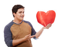 Style man with heart. Stock Image