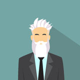 Style masculin de hippie d'avatar d'icône de profil d'homme d'affaires Photographie stock libre de droits