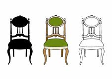Style medallion chair. Vector illustration of a piece of furniture, EPS 8 file Vector Illustration