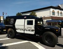 Style militaire HV-1 Hummer, Rutherford Police Emergency Vehicle image stock