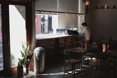 Style minimal chaud de café image libre de droits
