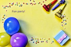 Minimalism, party, gift box, colorful, celebration, pattern, con royalty free stock photography