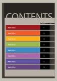 Style moderne Boxy de disposition de page de contenu Images libres de droits