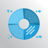 Style moderne d'origami de cercle d'infographics d'affaires Photographie stock