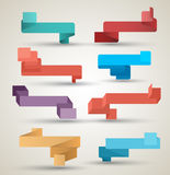 Style moderne d'origami de collection de rubans Photo stock