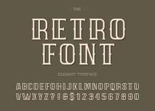 Style moderne de la typographie 3d de rétro police de vecteur illustration libre de droits