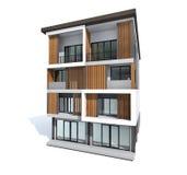 Style moderne de maison de boutique Image stock