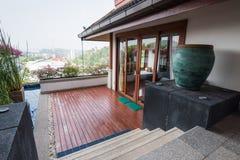 Style moderne thaïlandais d'intérieur de maison Image libre de droits
