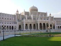 Style néoclassique d'architecture du gouvernement de Sharja image stock