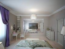 Style néoclassique de chambre à coucher illustration de vecteur