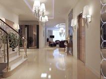 Style néoclassique de Hall photo stock