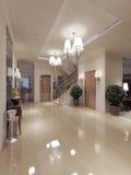 Style néoclassique de Hall photos stock