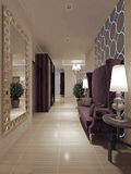 Style néoclassique de Hall photographie stock
