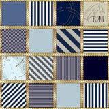 Style nautical pattern Royalty Free Stock Photo
